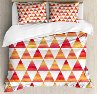 Triangle Geometric Art Duvet Cover Set