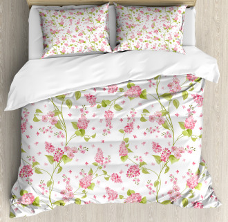 Nature Blossom Buds Duvet Cover Set
