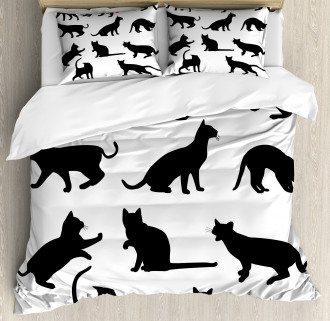 Red Ball Animal Pet Kittens Duvet Cover Set