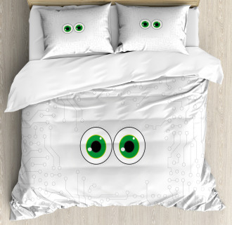 Eye Form Digital Picture Duvet Cover Set