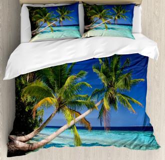 Exotic Maldives Beach Duvet Cover Set