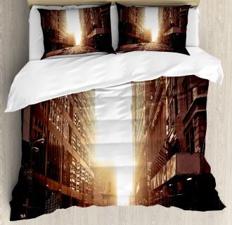 Early Morning Manhattan Duvet Cover Set