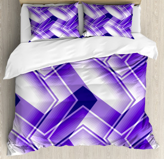 Trippy Digital Shapes Duvet Cover Set