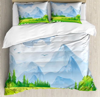 Summer Meadow with Daisy Duvet Cover Set