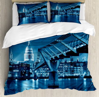 Night London Monument Duvet Cover Set