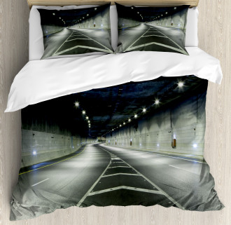 Interior Urban Tunnel Duvet Cover Set