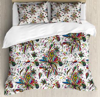 Ethnic Flora Pattern Duvet Cover Set