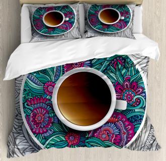 Coffee and Herbal Tea Duvet Cover Set