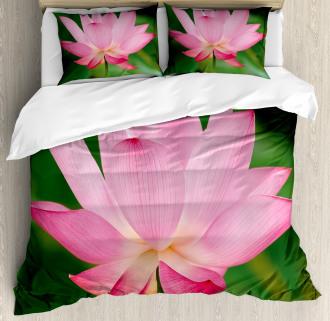 Lotus Lily Blossom Duvet Cover Set