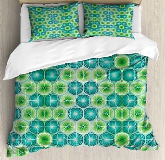 Vector Pattern Flowers Duvet Cover Set