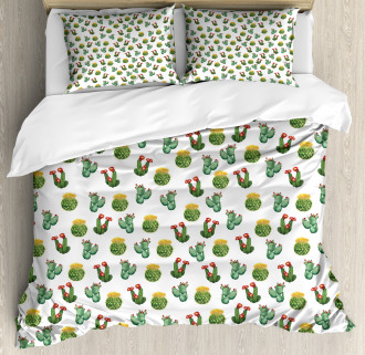 Cactus and Suculent Print Duvet Cover Set