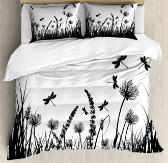 Grass Bush Meadow Spring Duvet Cover Set