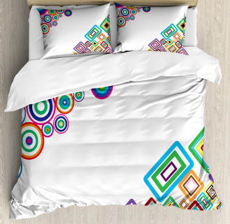 Colored Rectangle Form Duvet Cover Set