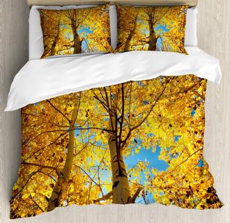 Autumn Trees Leaf Forest Duvet Cover Set