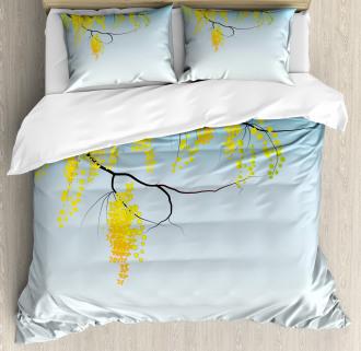 Flowers Bud Blossom Artwork Duvet Cover Set