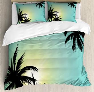 Hawaiian Miami Beach Sun Duvet Cover Set