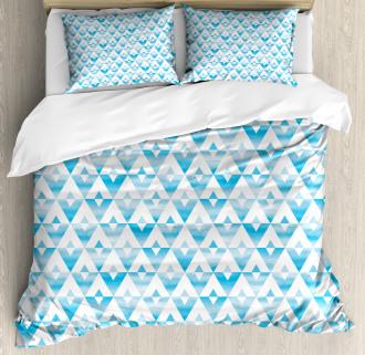 Geometric Shape Triangle Duvet Cover Set