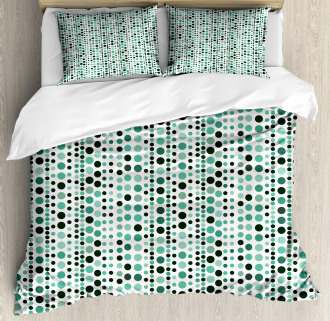 Geometrical Circles Dots Duvet Cover Set