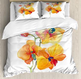 Orchid Petal Wild Exotic Duvet Cover Set