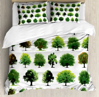 Pines Planes Bushes Tree Duvet Cover Set