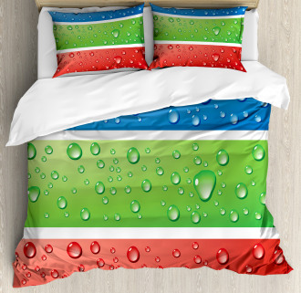 Water Drops on a Plastic Duvet Cover Set