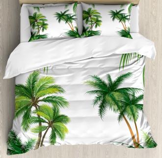 Coconut Palm Tree Plants Duvet Cover Set
