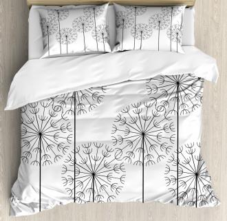 Digital Flower Dandelion Duvet Cover Set