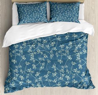 Twiggy Spring Petal Blue Duvet Cover Set