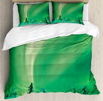 Icy Pine Tree Duvet Cover Set