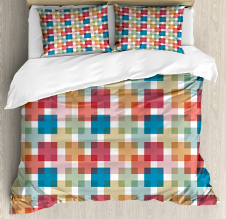 Wall or Floor Squares Duvet Cover Set