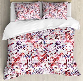Ethnic and Tribe Motifs Duvet Cover Set