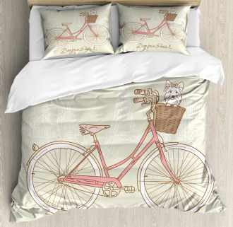 Postcard from Paris Bicycle Duvet Cover Set