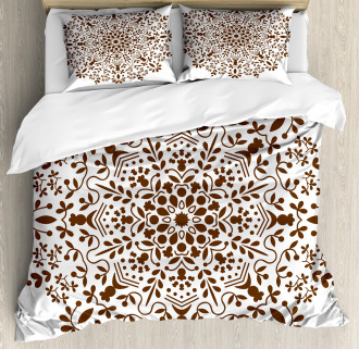 Abstract Vector Floral Duvet Cover Set