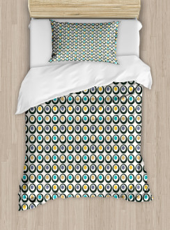 Bold Circles Polka Dots Duvet Cover Set