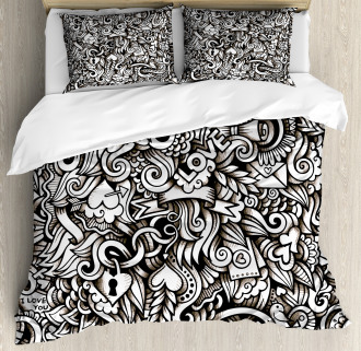 Winged Hearts Duvet Cover Set