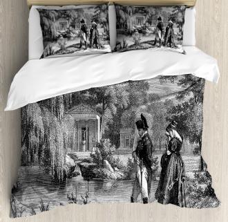 Napoleon Woman Garden Duvet Cover Set