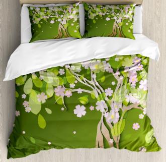 Blossoming Petals Florets Duvet Cover Set