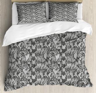 Lace Gothic Pattern Duvet Cover Set