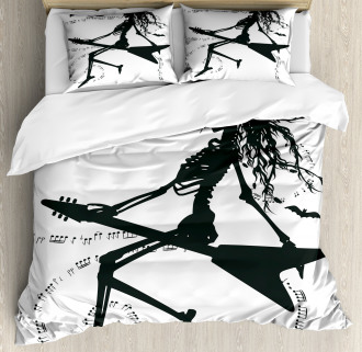 Witch on Guitar Duvet Cover Set
