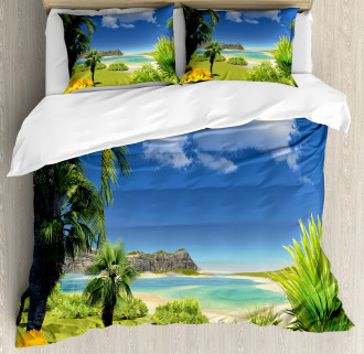 Paradise Palms Island Duvet Cover Set