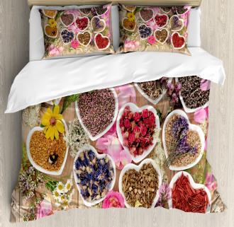 Healing Herbs Cute Bowls Duvet Cover Set