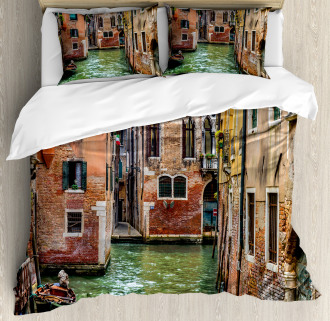 Famous Streets on Water Duvet Cover Set