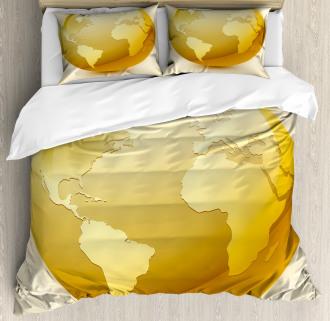 Vivid Earth Icon Sphere Duvet Cover Set