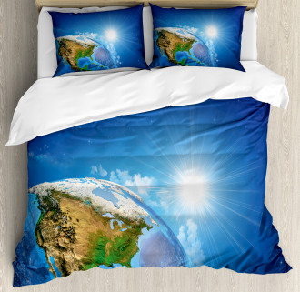 United States in Space Duvet Cover Set