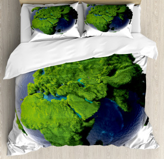 World Lush Forest Waters Duvet Cover Set
