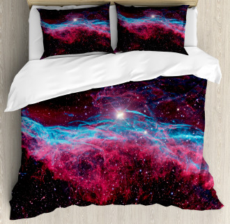 Outer Space Stars Galaxy Duvet Cover Set