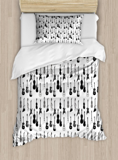 Monochrome Strings Design Duvet Cover Set