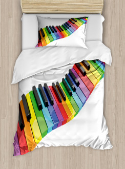 Vibrant Keyboard Arts Duvet Cover Set