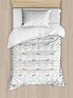 Artistic Vibes Notes Beat Duvet Cover Set