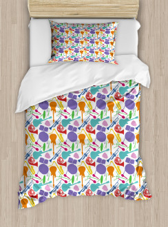 Colorful Instruments Bass Duvet Cover Set